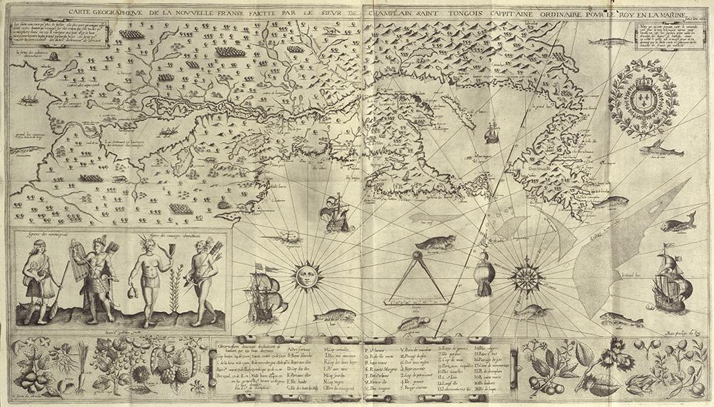 Samuel de Champlain, engraved by David Pelletier,  1612
