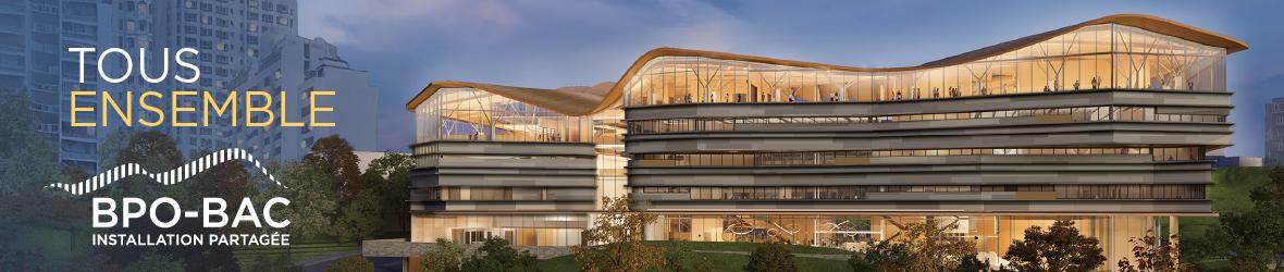 Voyez la conception architecturale de l'installation partagée de BAC et de la BPO