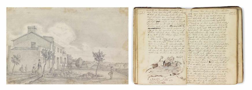 Journal relatant une visite au Canada, aux États-Unis et en Jamaïque de1833 à1835.