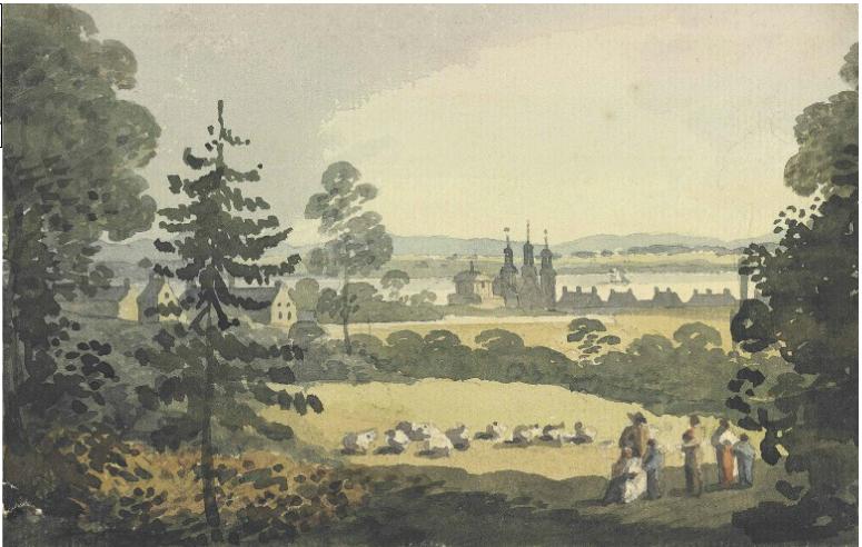 Beauport, 1810, aquarelle sur papier, 12,1cmX 17,3cm
