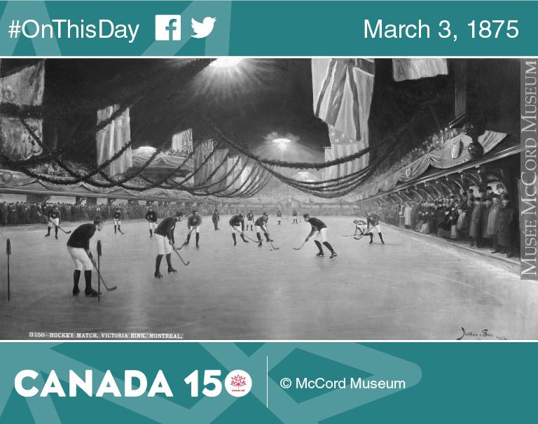 Hockey match, Victoria Rink, Montréal, Quebec, composite, 1893.