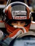 Gilles Villeneuve awaits the start of practice for the U.S.
