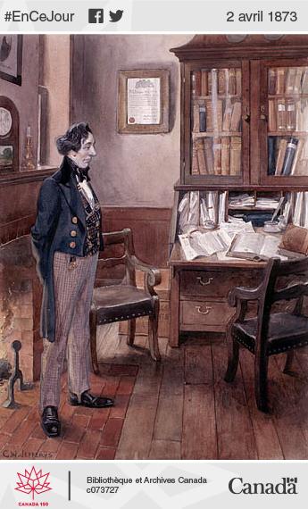 Portrait à l'aquarelle de John A. Macdonald.