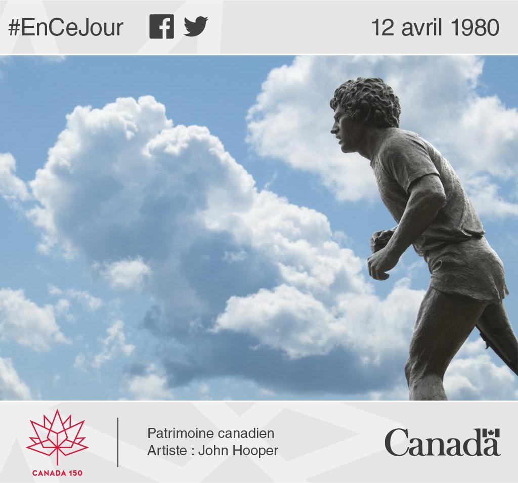 Photo de la statue de Terry Fox qui a été érigée à Ottawa par le gouvernement du Canada.