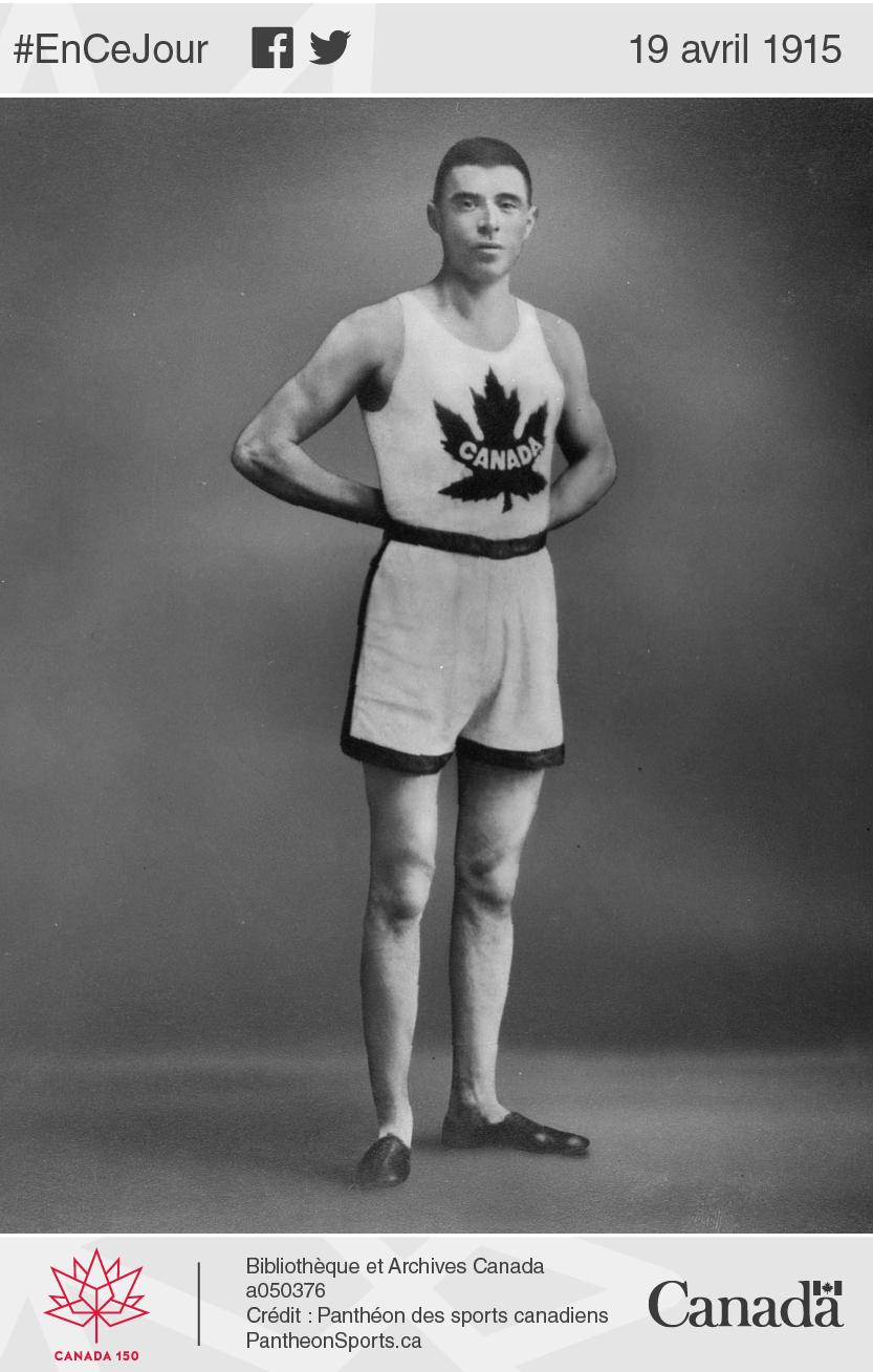 Édouard Fabre au sommet de sa gloirecarrière. Le coureur ne pourra participerratera  auxles Jeux olympiques de 1916, annulés en raison de la Première Guerre mondiale.