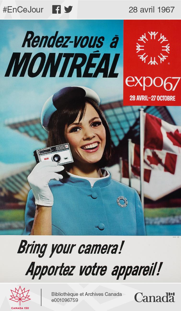 Affiche promotionnelle pour l'Exposition universelle de Montréal, 1967.