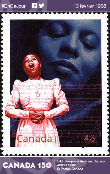 Timbre à l'effigie de Portia White émis par Postes Canada, le 17 décembre 1999.
