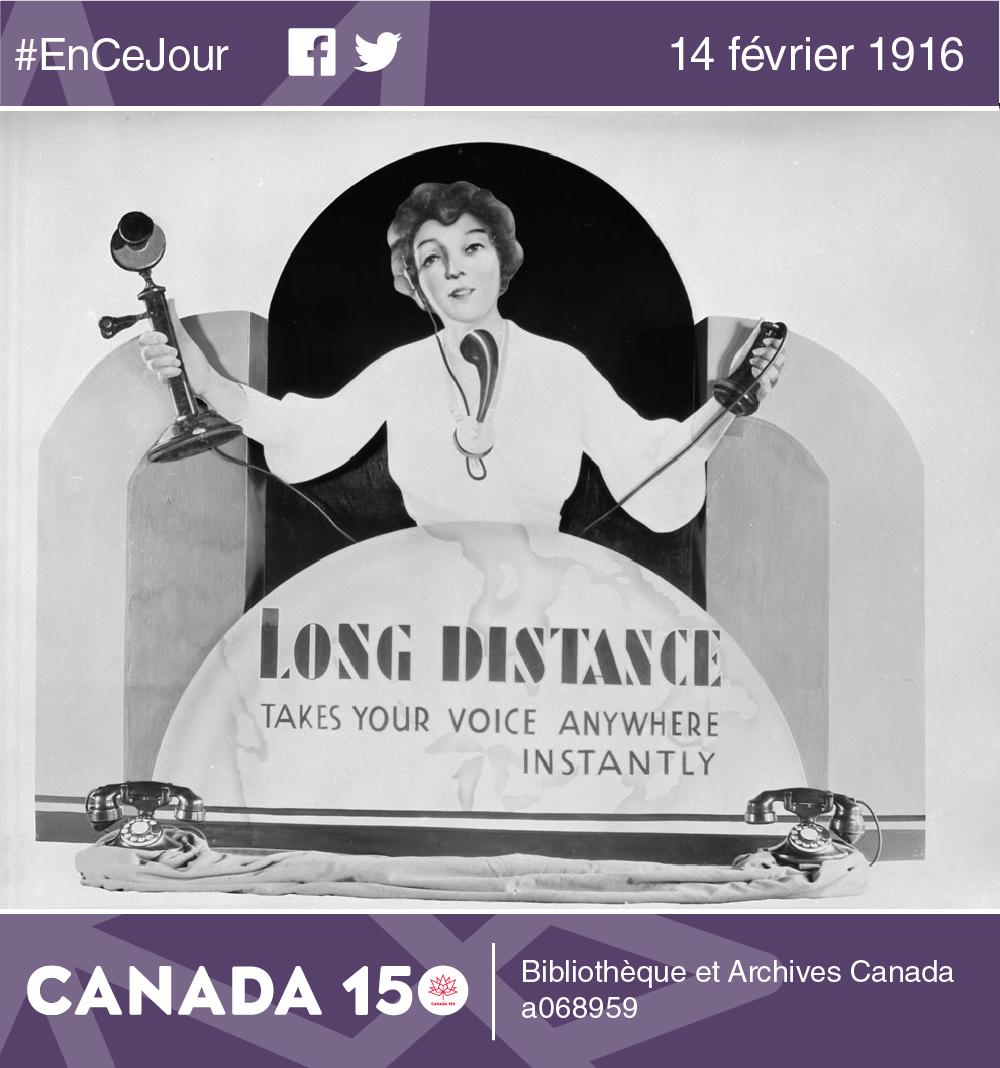Photo d'une publicité de Bell Téléphone créée par les Studios Hayward, à Montréal.