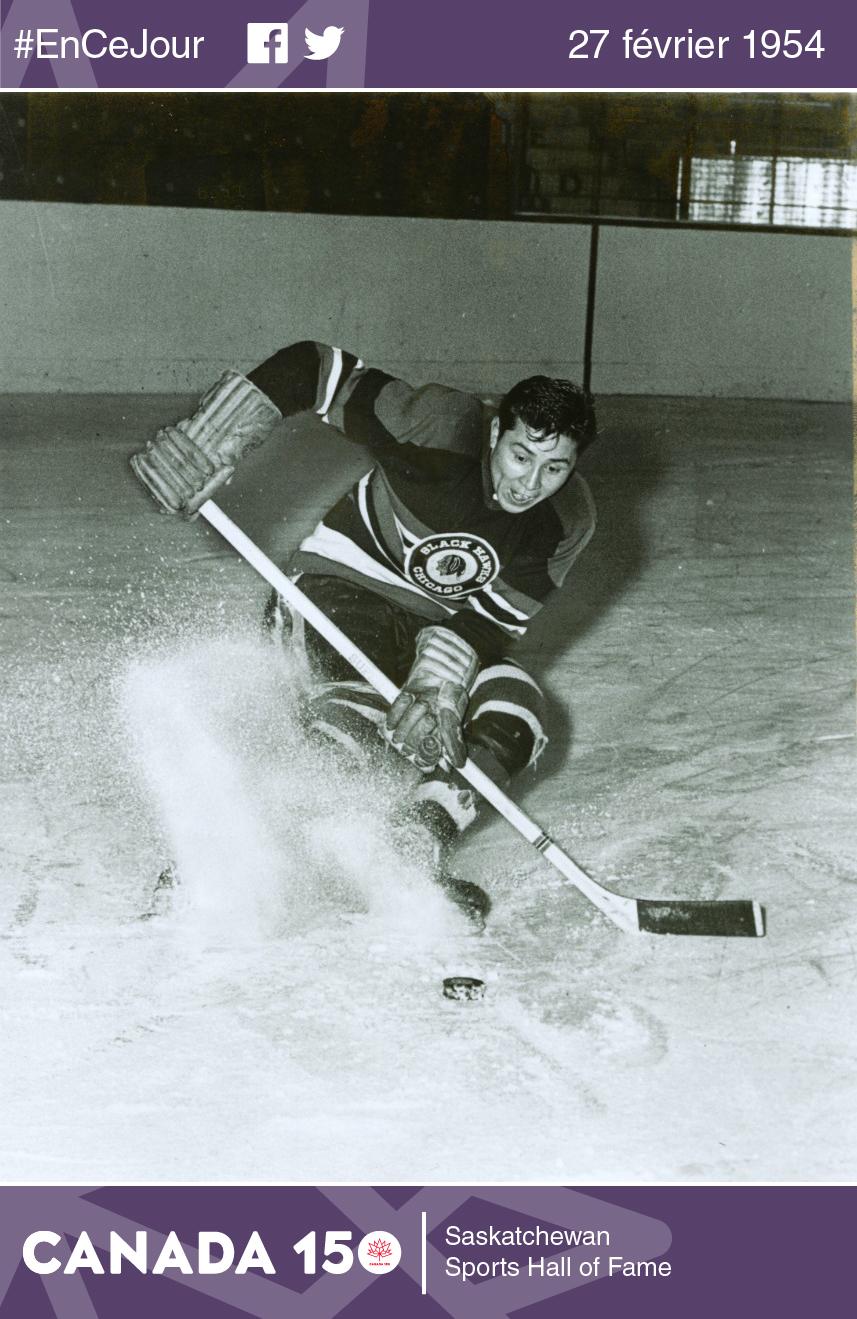Fred Sasakamoose a joué pour les Blackhawks de Chicago lors de la saison 1953-1954. Après sa retraite du hockey, Sasakamoose a été chef de la communauté crie de Sandy Lake de 1980 à 1984.