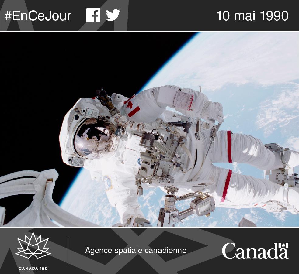 Photo de l'astronaute Chris Hadfield dans l'espace.