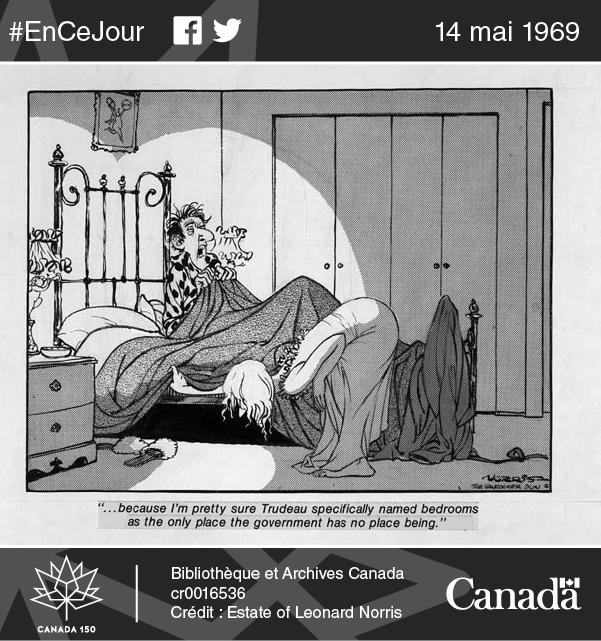 Caricature publiée dans le Vancouver Sun, 9 janvier 1976.