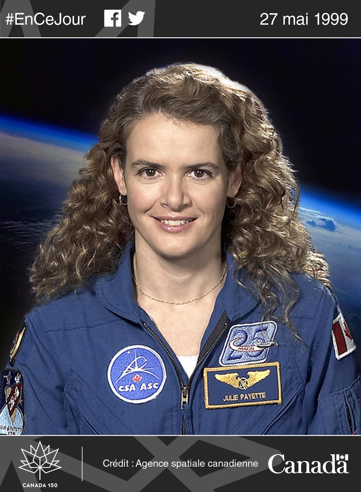 Photo de Julie Payette, astronaute.