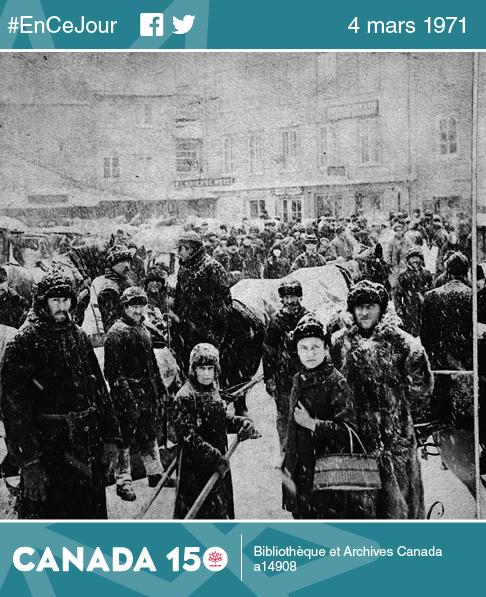 Au siècle précédent, en 1888, les gens de Québec ont bravé leur tempête pour le jour du grand marché.