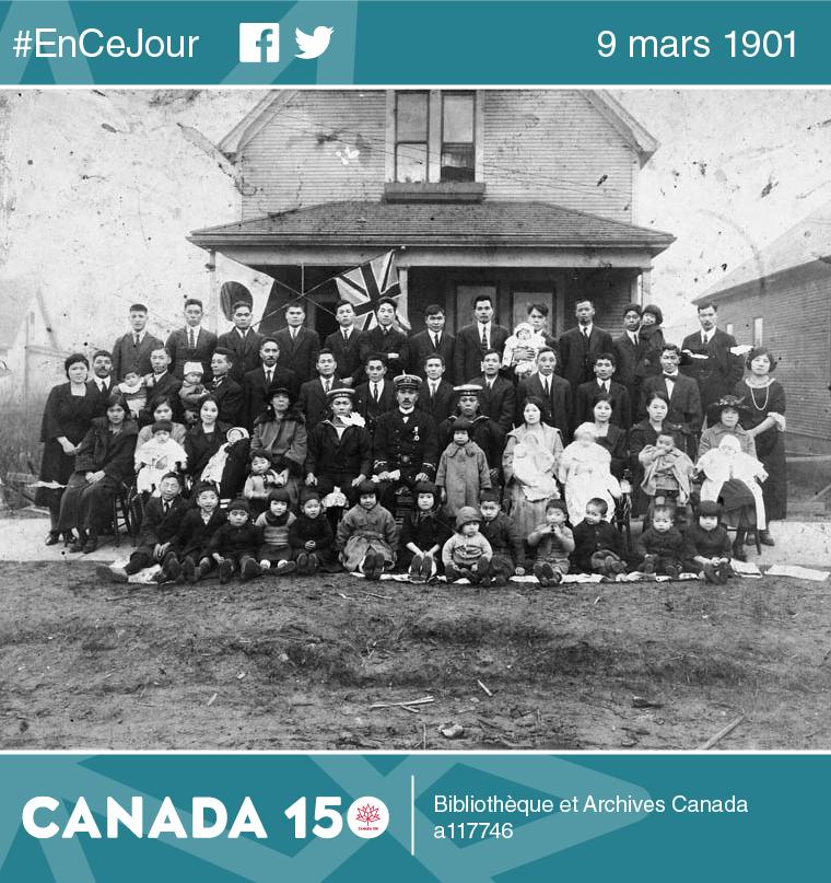 Familles d'immigrants japonais, Vancouver, Colombie-Britannique, 1924.
